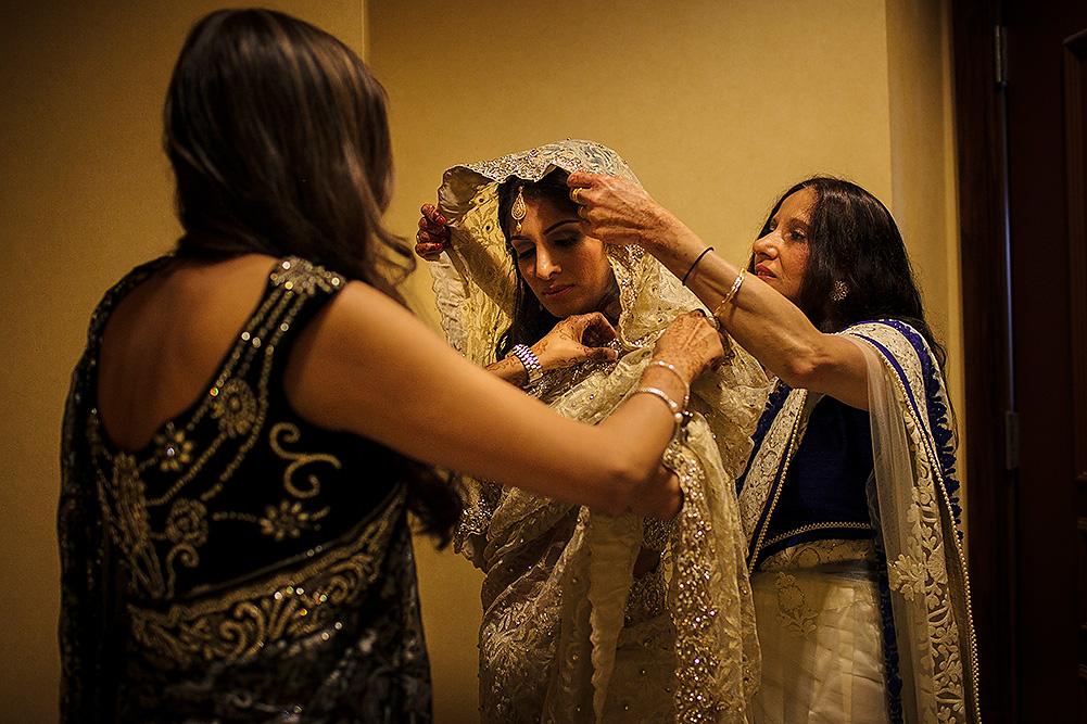 Muslim wedding getting ready